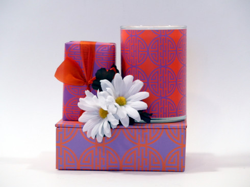 Soap Candle and Note cards - gift set for home and office