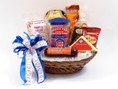 Chicago Cubs Gift Basket with Assorted Snacks and insulated Cubs travel tumbler
