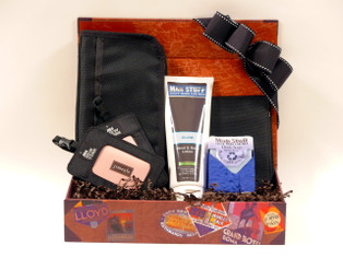 Jimeale Men's Travel Gift Basket, perfect gift for his next trip.