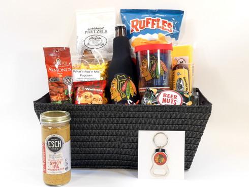 Chicago Blackhawks deluxe gift basket