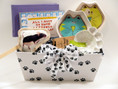 Our Kitty Love gift basket is practical and fun for both kitty and owner