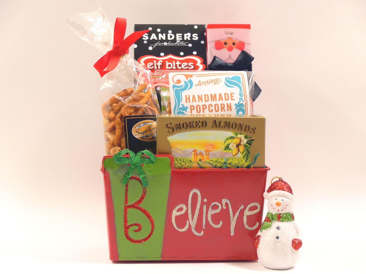 Christmas Joy Gift Basket with snowman ornament. Loading zoom. Christmas Joy Gift Basket ...