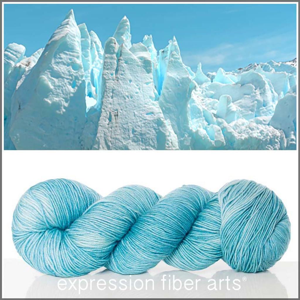 Iceberg Resilient Superwash Merino Sock Expression