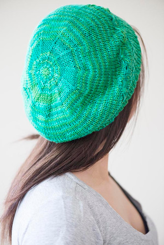 Free Band Of Butterflies Knitted Beret Pattern