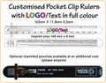 Customised Pocket Clip Rulers with Logo in Colour
