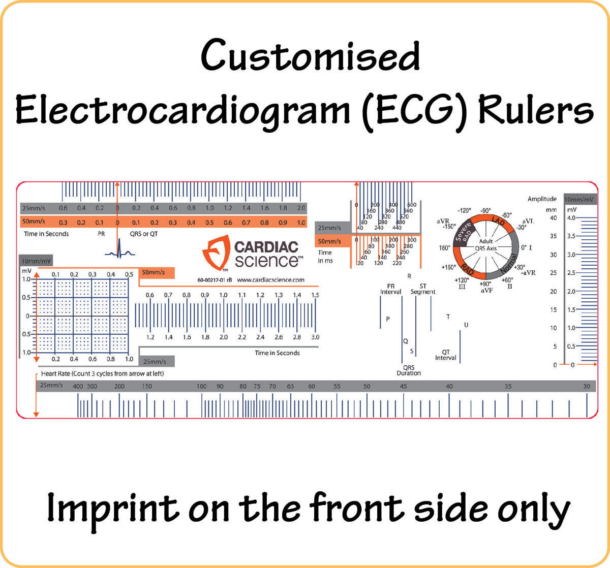 Customised Electrocardiogram Ecg Rulers With Logo Text In Full Diagram Electrocar Diogram Image 1