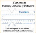 Customised Pupillary Distance (PD) Rulers with LOGO/Text in FullColour