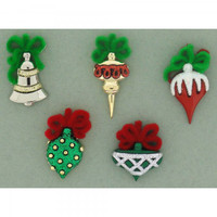 Dress It Up Buttons Christmas Ornaments