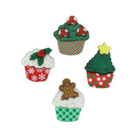 Dress It Up Buttons Christmas Cupcakes