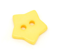 STAR Shaped Plastic Buttons Two Hole 15mm YELLOW