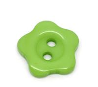 Flower Shaped 12mm Resin Buttons Green