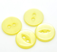 Round 2 Holes Cats Eye Resin Sewing Buttons  11mm YELLOW