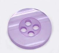 Round Plastic Buttons Four Hole 15mm Translucent Purple