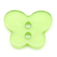 Resin Sewing Buttons 2 Hole Butterfly Green