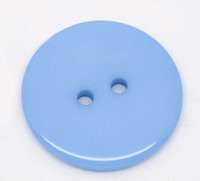 Round Plastic Buttons Two Hole 23mm Blue