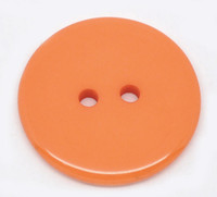 Round Plastic Buttons Two Hole 23mm Orange