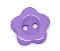 Flower Shaped 14mm Resin Button Purple