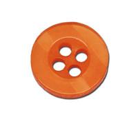 Round Plastic Buttons Four Hole 11mm Translucent Orange