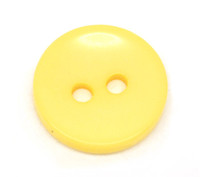 Round 2 Holes Resin Sewing Buttons  15mm - Yellow