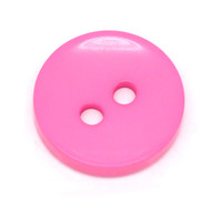 Round 2 Holes Resin Sewing Buttons  15mm - Pink