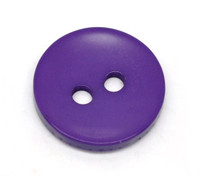 Round 2 Holes Resin Sewing Buttons  15mm - Purple