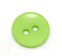 Round 2 Holes Resin Sewing Buttons  15mm - Green