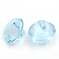 Acrylic Transparent Shank Buttons 10mm - Blue