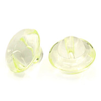Acrylic Transparent Shank Buttons 10mm - Lemon