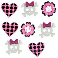 Dress It Up Buttons Girl Punk