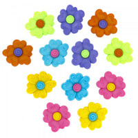 Dress It Up Buttons Swirl Flower Centre 2242