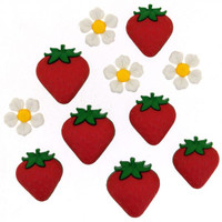 Dress It Up Buttons Fresh Strawberries