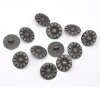 Silver Tone Metal Shank Buttons 17 mm Design No.4