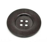 Round Extra Large Wood Button (Design 2) Four Hole Dark Brown Colour 6cm