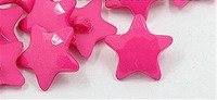 Pink Star Shank Button - 22mm