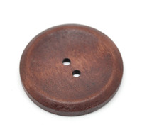 Round Extra Large Wood Button (Design 3) Two Hole Reddish Brown Colour 40 mm