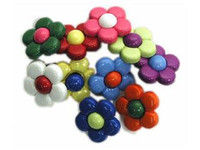 Dress It Up Buttons Multi Color Daisies