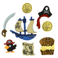 Dress It Up Buttons Pirates