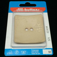 Dill Button Square Cream 60mm Hook 321
