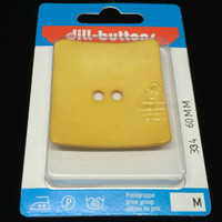 Dill Button Square Yellow 60mm Hook 334