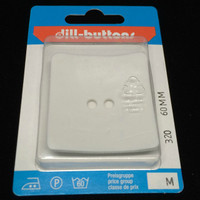 Dill Button Square White 60mm Hook 320
