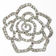 LA Mode 44mm Crystal Flower Shank Button Hook 007