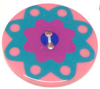 34mm Round Confetti Button -3208