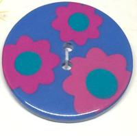 34mm Round Confetti Button -3211
