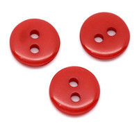 Mini Button Red 2 Holes Acrylic Sewing Buttons 9mm