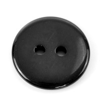 Round Plastic Buttons Two Hole 18mm Black