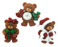 Dress It Up Buttons A Beary Merry Christmas