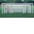 Bison Premium Painted Club Soccer Goal(4''x2'' RECT)-8'x24'x4'x1