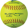 "Champro 12"" ASA RECREATIONAL SLOW PITCH; .52 CORE;  SYNTHETIC DURAHIDE COVER; CSB24Y"