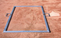 Heavy-Duty Baseball Batter's Box Template (Various Sizes)
