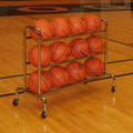 3-Tier Wide Body Basketball Cart (12 Ball Capacity)